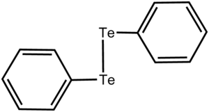 Diphenyl ditelluride - Image: Ph 2Te 2