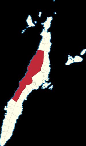 Legislative districts of Cebu - Map of the current 3rd District of Cebu