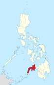 Map of the Philippines highlighting the Zamboanga Peninsula