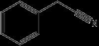 Strukturformel von Phenylacetonitril