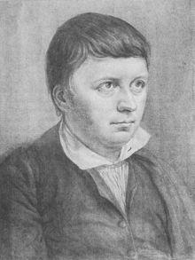 Friedrich Schlegel um 1810 (Zeichnung von Philipp Veit, aber gespiegelt) (Quelle: Wikimedia)