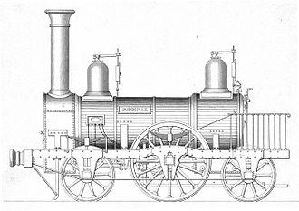 Glasgow, Paisley, Kilmarnock and Ayr Railway - Phoenix - an Edington and Son 2-2-2 locomotive built 1840-1841