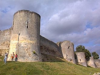 Château de Coucy - Image: Photo Château de Coucy rempart 01