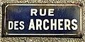 Photo de plaque de rue prise dans la commune d'Étaples - rue des Archers.jpg