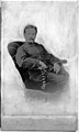 Photographic portrait of Timothy Richards Lewis seated in an arm chair. Wellcome M0016183.jpg