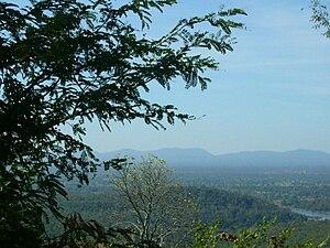 Phu Phan Mountains - Phu Phan Mountains, view from Wat Tham Kham