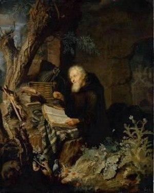 Pieter Leermans - The Hermit, Gemäldegalerie Alte Meister