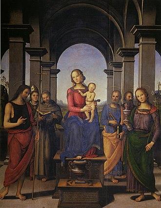 Fano Altarpiece - Image: Pietro Perugino cat 45b