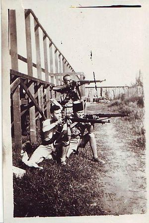 Haganah - Haganah fighters guarding Migdal Tzedek, 1936