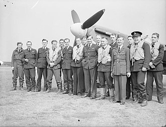 Paddy Finucane - 452 Squadron, 1941. Finucane is fourth from left.