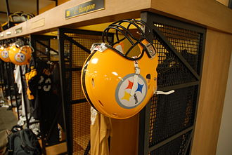 2007 Pittsburgh Steelers season - The Steelers' throwback yellow helmet worn in week 2 and 9 of the season