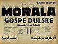 Plakat za predstavo Morala gospe Dulske v Narodnem gledališču v Mariboru 10. novembra 1929.jpg