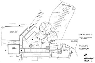 Casa Blanca (San Juan) - Site and roof plan of Casa Blanca, 1981