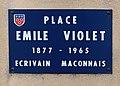 Plaque Place Émile Violet - Mâcon (FR71) - 2020-12-22 - 1.jpg