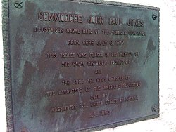 Photo of John Paul Jones bronze plaque