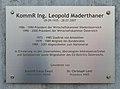 Plaque for Leopold Maderthaner, Amstetten.jpg