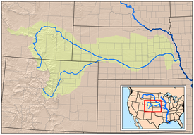 Route of the oregon trail wikipedia map showing the platte river watershed including the north platte and south platte tributaries freerunsca
