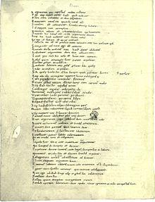 Die Verse 85–137 der Komödie Mostellaria des Plautus in der Handschrift Biblioteca Apostolica Vaticana, Vaticanus Palatinus lat. 1615, fol. 87v (10./11. Jahrhundert) (Quelle: Wikimedia)