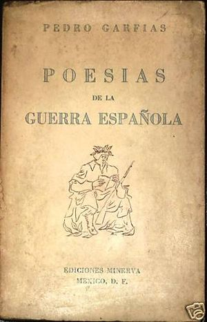 Pedro Garfias - Image: Poesias Guerra Española