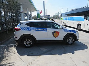 Law enforcement by country - An Albanian police vehicle