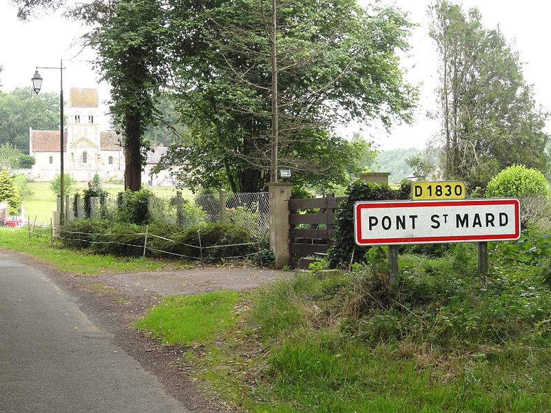 Pont-Saint-Mard (Aisne) city limit sign