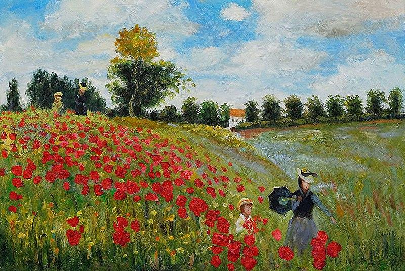 File:Poppy Field in Argenteuil, Claude Monet.jpg