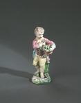 Porslin. Figurin - gosse med blomsterkorg - Hallwylska museet - 89291.tif