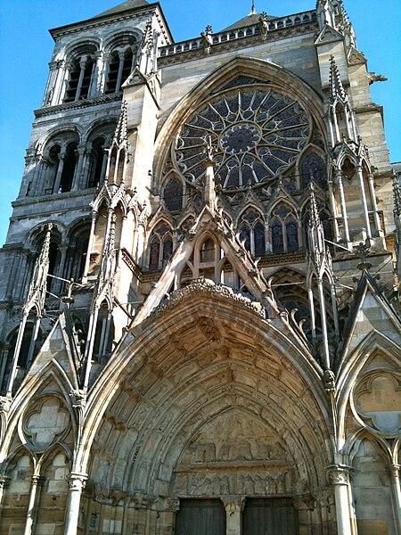 Portail nord de la cathédrale Saint-Etienne de Châlons-en-Champagne