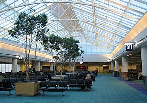 English: Concourse D at Portland International...