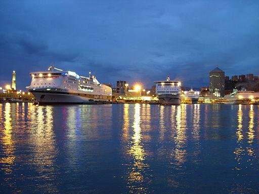 Porto Genova Notte 01