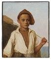Porträtt av en fiskarpojke från Capri (Christen Købke) - Nationalmuseum - 180198.tif
