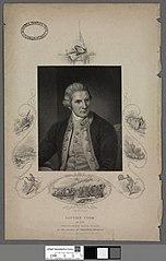 Printed portrait of Captain Cook