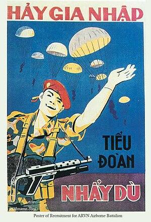 Republic of Vietnam Airborne Division - Recruitment poster of the Republic of Vietnam Airborne Forces
