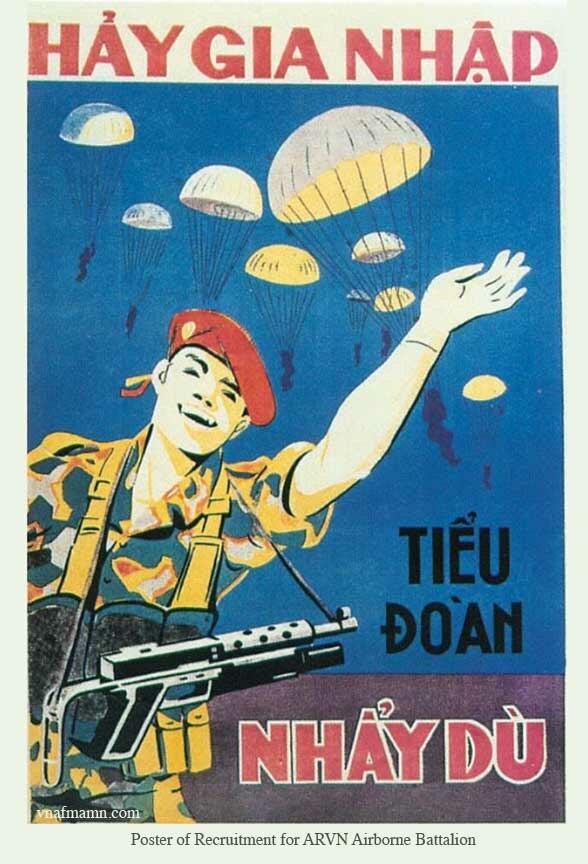 Poster of Recruitment for ARVN Airborne Battalion
