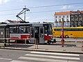 Praha-Smíchov, Na Knížecí, pohled ze zastávky.jpg