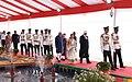 Pranab Mukherjee, the President-elect, Shri Ram Nath Kovind, the Vice President, Shri M. Hamid Ansari, the Speaker, Lok Sabha, Smt. Sumitra Mahajan and the Chief Justice of India (1).jpg
