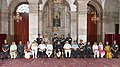 Pranab Mukherjee, the Vice President, Shri Mohd. Hamid Ansari, the Prime Minister, Shri Narendra Modi, the Union Minister for Defence, Shri Manohar Parrikar and other dignitaries at the Defence Investiture Ceremony–II (1).jpg