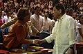 President Rodrigo Duterte shakes hands with Senator Leila de Lima.jpg