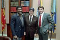 President Ronald Reagan posing with Roger Clemens and Don Baylor.jpg