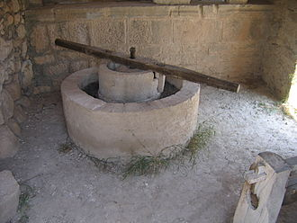 Volubilis - A reconstructed Roman olive press in Volubilis
