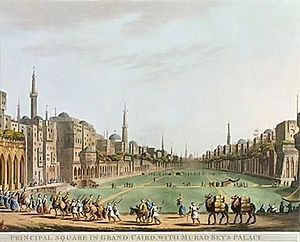 Siege of Cairo - Image: Principal Square In Grand Cairo With Murad Beys Palace