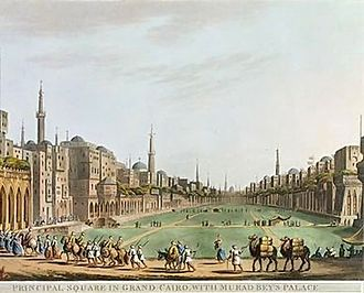 Siege of Cairo - Principle Square In Grand Cairo, With Murad Bey's Palace circa 1801