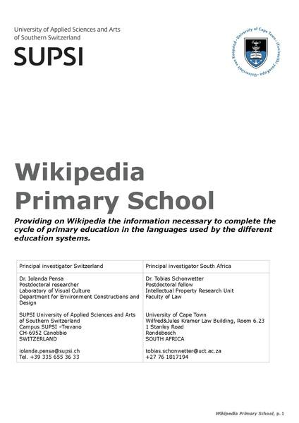 File:Project description of Wikipedia Primary School SSAJRP programme.pdf