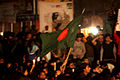 Protesters at Shahbag flag.JPG