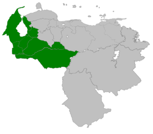 Maracaibo Province (Spanish Empire) - Image: Provincia de Maracaibo 1676 1786