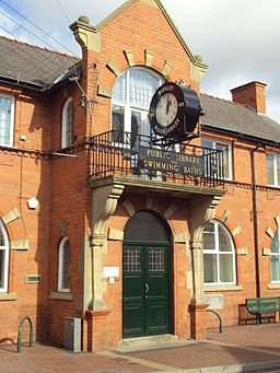 Public library and swimming baths building, Buckley
