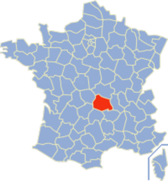 Communes of the Puy-de-Dôme department - Image: Puy de Dôme Position