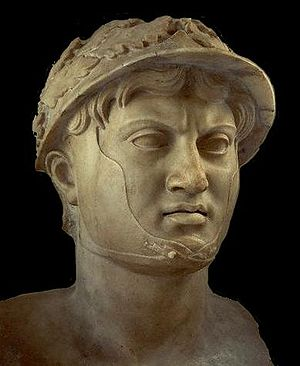 Siege of Sparta - A bust of Pyrrhus, King of Epirus, at the National Archaeological Museum of Naples