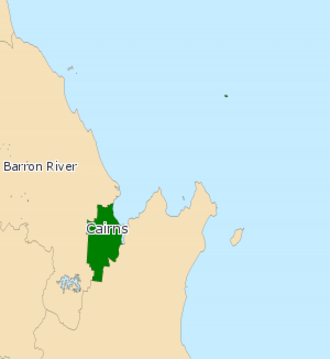 Electoral district of Cairns - 2008 map