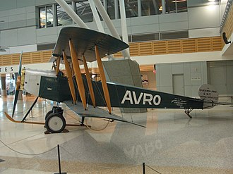 Avro 504 - Qantas Avro 504K replica with Sunbeam engine displayed at Qantas Domestic Terminal
